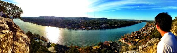 cool city views from Mt. Bonnell
