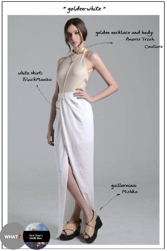 fashion: New Year's Outfit Idea – Golden-White  www.diawho.com