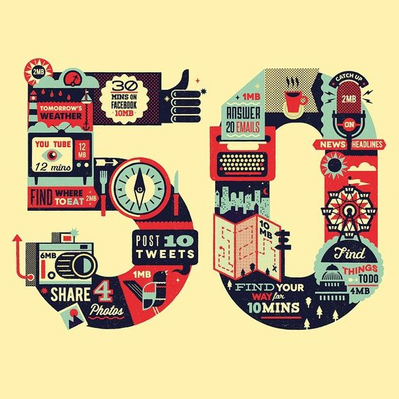 """A throw back thursday to this crop of a project with Grey London for Vodafone. This was super fun to work on. #icons #illustration #vector #infographic…"""