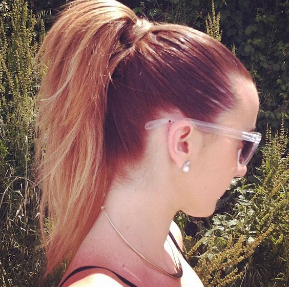 Love my ponytail #ponytail #tail #hair