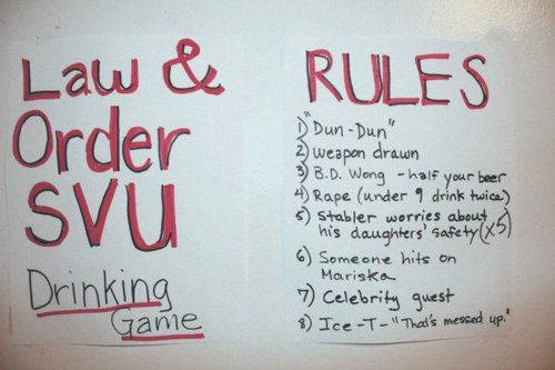 law and order svu drinking game