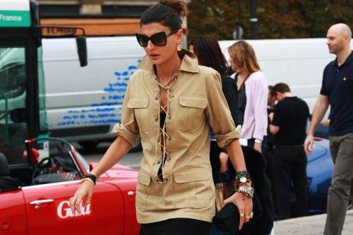 Giovanna Battaglia in YSL