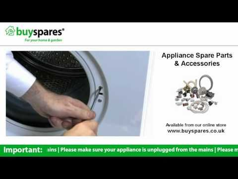 How to change the door interlock on a washing machine. BuySpares 'how to videos'.