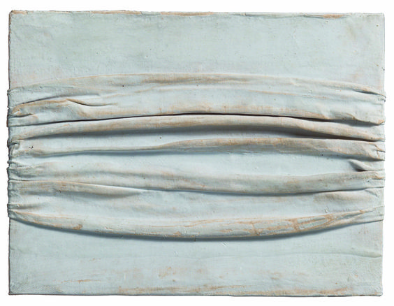 "Piero Manzoni [Italy] (1933-1963) ~ ""Achrome"", 1958-1959. Kaolin on canvas. 