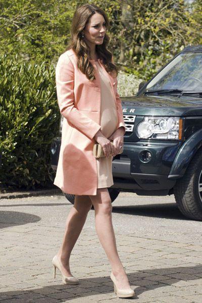 Rose blush coat worn by Duchess of Cambridge