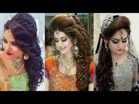 Top 40 Open Hairstyles For Wedding Ll Lovely Hairstyle For Engegment Reception Sha Wedding Reception Hairstyles Bridal Hairstyle For Reception Bride Hairstyles