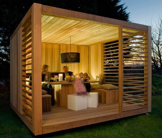 was f r ein cooler moderner pavillon aus holz f r den garten garten ideen pinterest. Black Bedroom Furniture Sets. Home Design Ideas