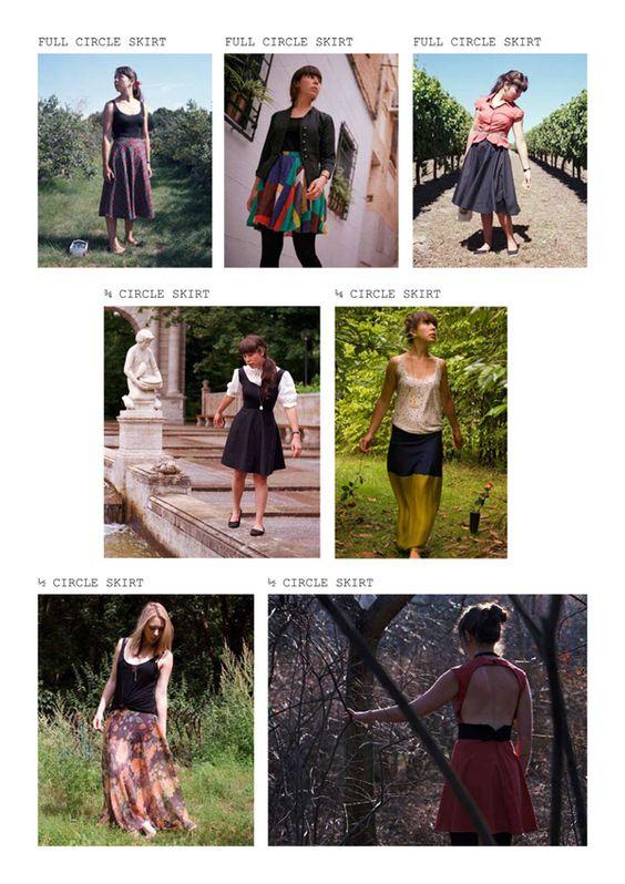 How to make various circle skirts