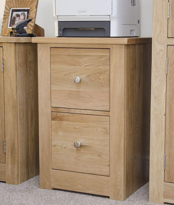 Torino Oak Two Door Filing Cabinet