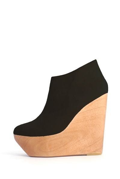 MAURIE & EVE Phoenix Suede & Wood Wedges - Swoon.