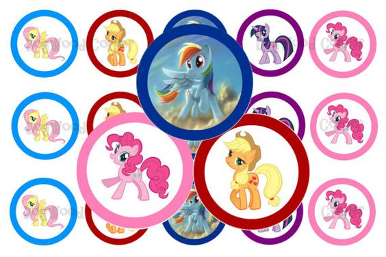 1 My Little Pony Rainbow Dash Bottle Cap Image by Dogwoodcorner