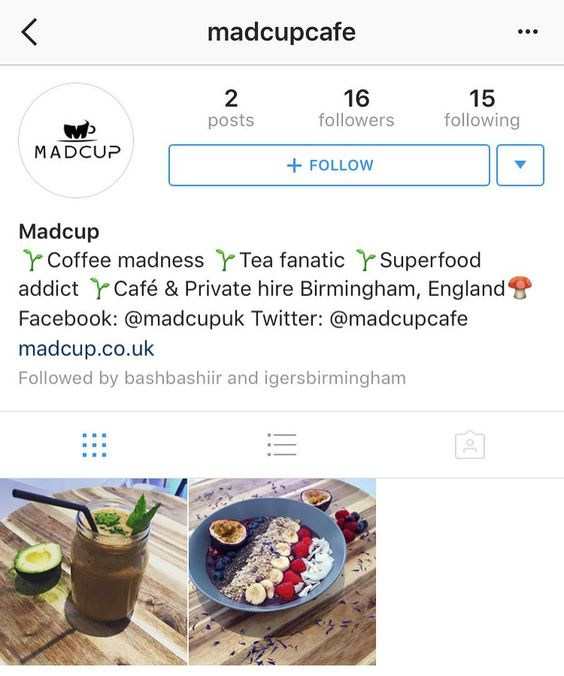 Go follow our Friends from @madcupcafe new Independant Business in Kings Heath not only coffee but an awesome array of Healthy Food too!