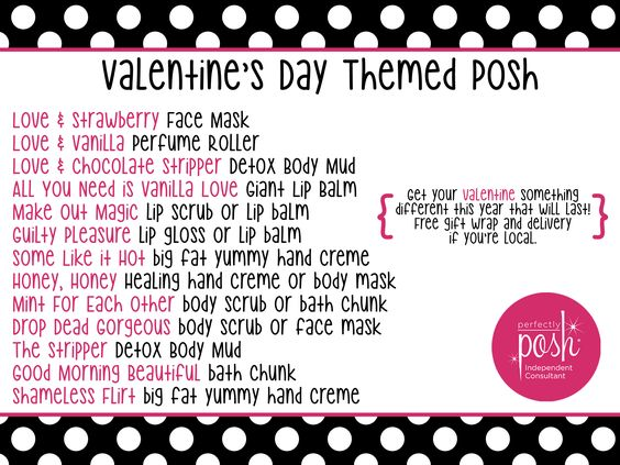 Valentine's Day themed Perfectly Posh products #PerfectlyPosh #HappyValentinesDay