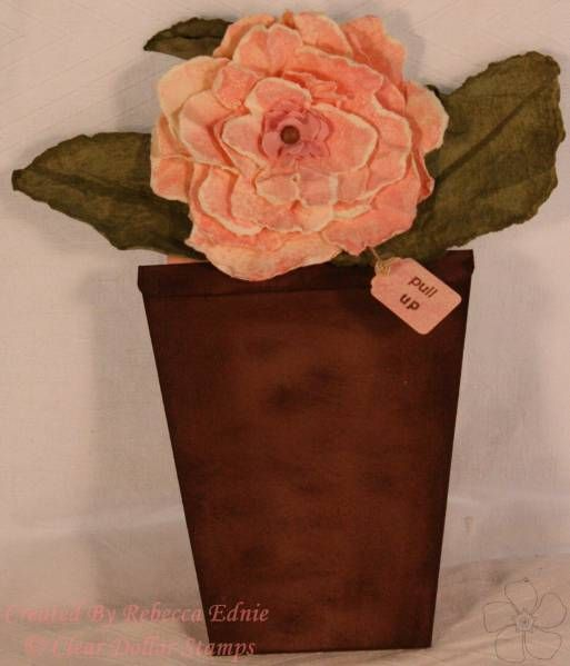 Flower Pot Card by Clear Dollar Stamps