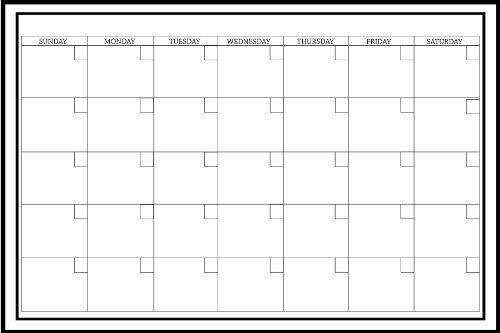 "Wall White Board Monthly Calendar Planner Peel Stick Dry Erase Marker Office 24/"""