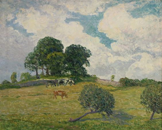 Maxime Maufra - Les nuages blanc, Rosporden (1900)