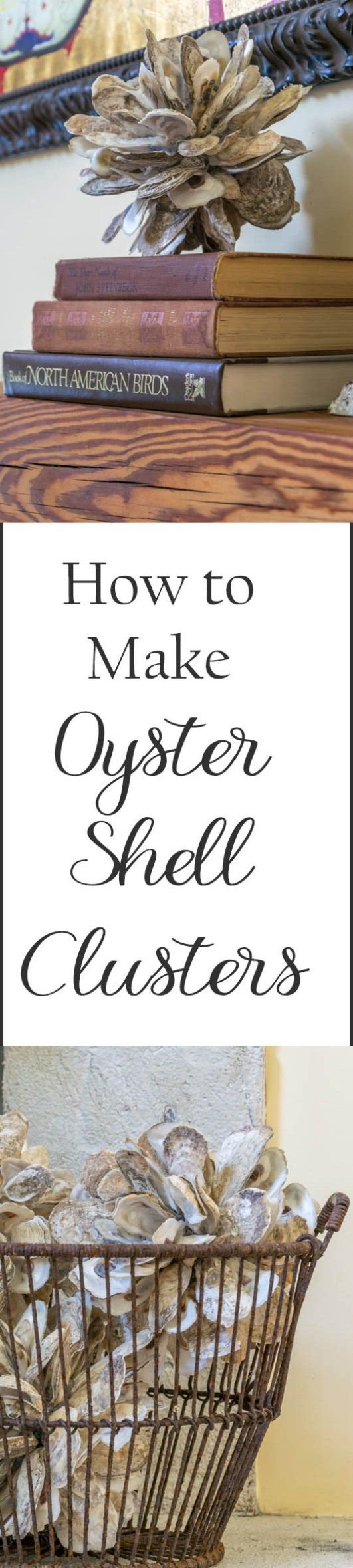 Diy oyster shell clusters ideas diy and crafts and decor Diy home decor with shells