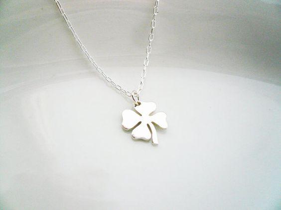 Tiny Four Leaf Clover Necklace (for B)