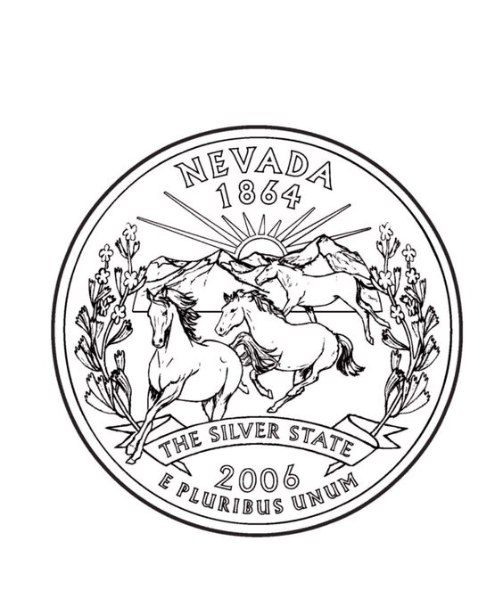 nevada state coloring pages - photo#31