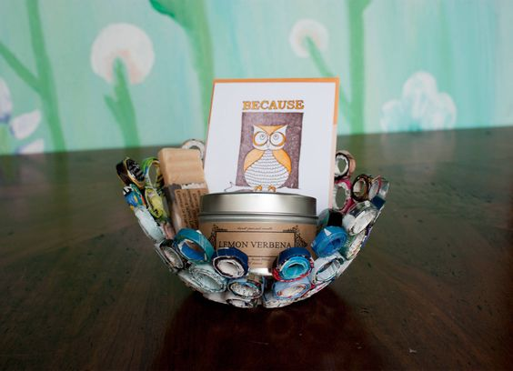 DIY Rolled Paper Gift Basket | Whimseybox