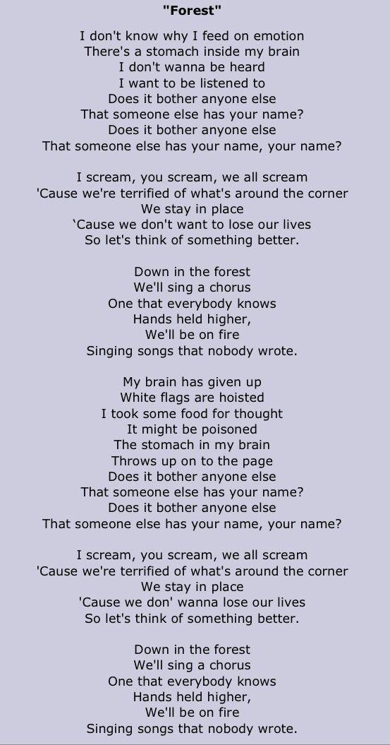 The Cure - A Forest Lyrics | MetroLyrics