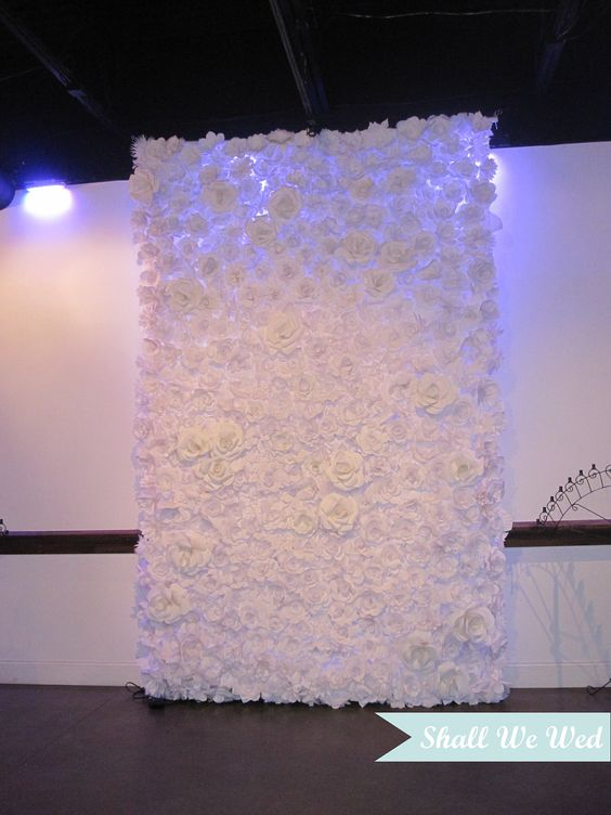 Amazing Endless Handmade Paper Flower Wedding Backdrop, would be gorgeous for ceremony backdrop: