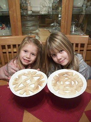 Snow flake cinnamon toast