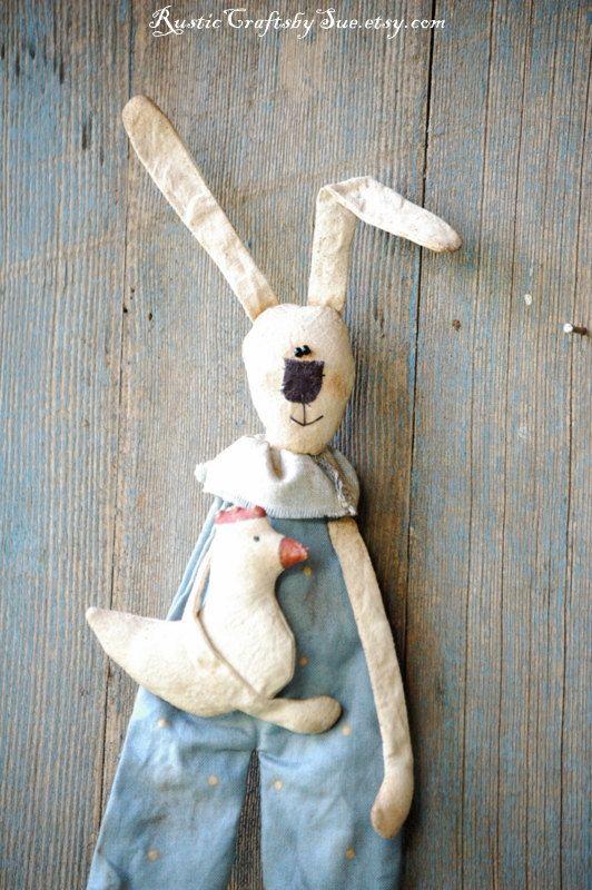 Decoración de la pared primitiva conejo-Pascua Bunny-Ester decoraciones primitiva primitiva de Pascua Pascua huevos guirnalda rústica pared Decor-Pascua