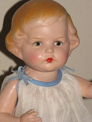 "Awww-some!! Antique Rare AMBERG All Composition ""It"" Doll w/Jointed Waist! AO 14"" (35.5 cm)"