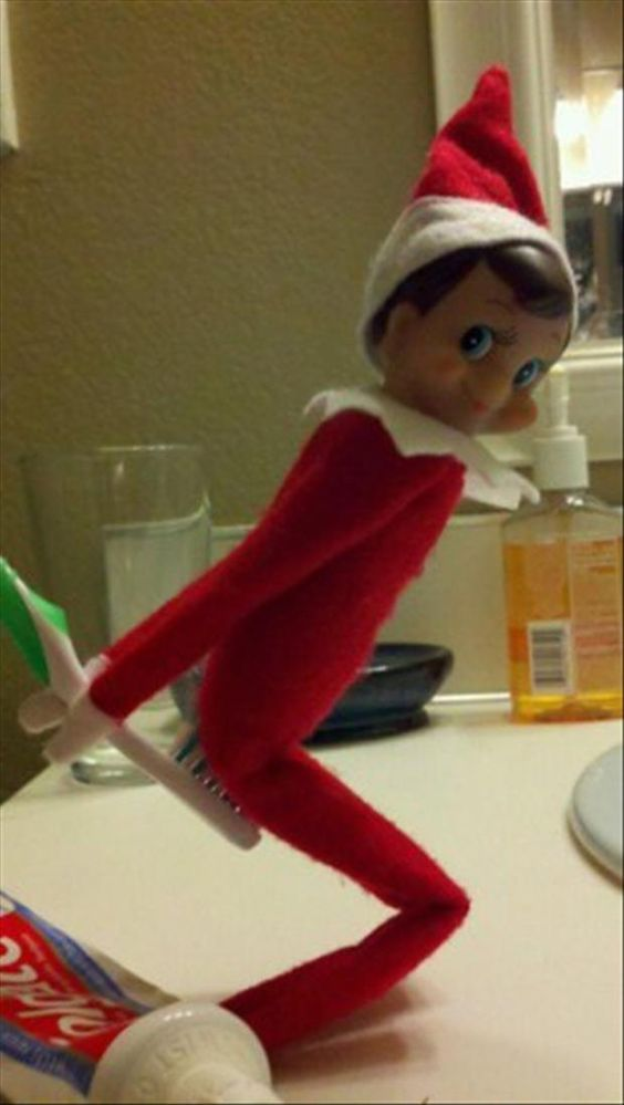 20 Elf on the Shelf Pics That Will Make You Laugh Out LoudI don't think that's what they meant when they said 'make sure you brush.'