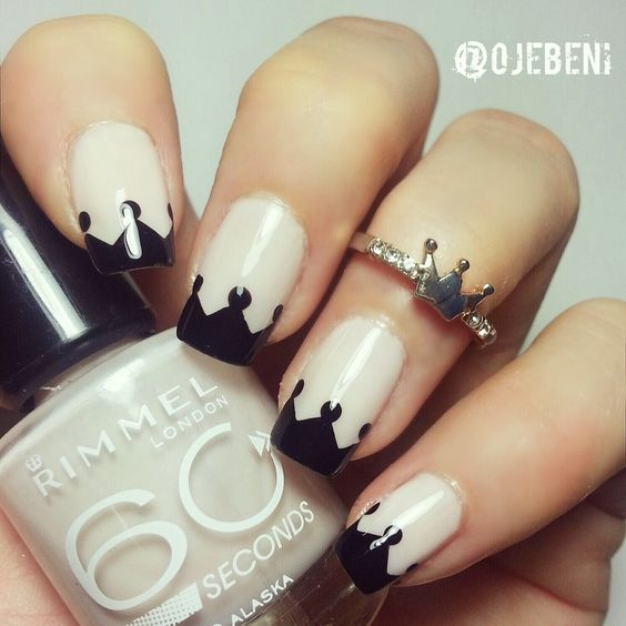 Crown Tips Nail Art for those of your kings and queens out there