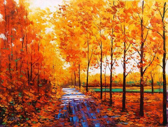 Silent Autumn | Graham Gercken 1960 | Australian Impressionist Landscape painter | Tutt'Art@ | Pittura * Scultura * Poesia * Musica |