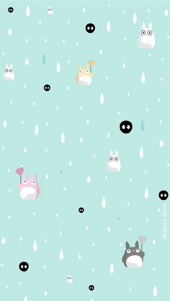 Wallpaper Totoro. by Birds Natacha, via Behance Patterns
