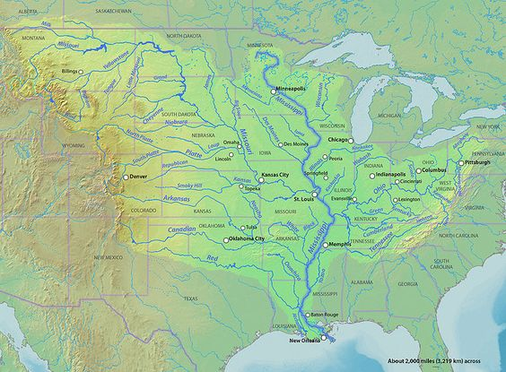 FileMississippirivermapnewjpglongest River In The United - Longest river in the us map