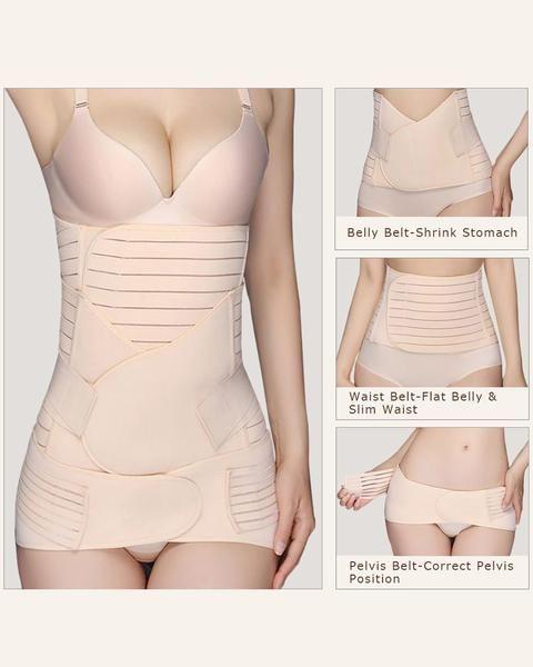 Exlura 3 In 1 Postpartum Support Recovery Belly Waist Pelvis Belt Shapewear Waist Belts Postpartum Support Postpartum Belt Postpartum Care Kit