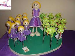 Resultado de imagen para souvenir rapunzel en goma eva