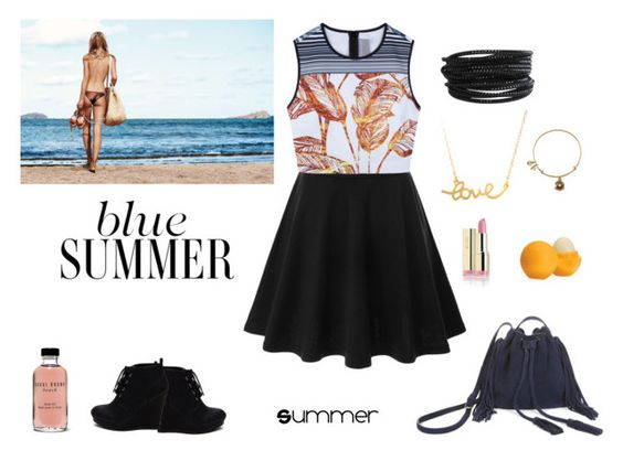 """""""Summer set"""" by laura14x ❤ liked on Polyvore featuring Doublju, Clover Canyon, Pieces, Minnie Grace, Bobbi Brown Cosmetics, Alex and Ani, BCBGMAXAZRIA and Eos"""