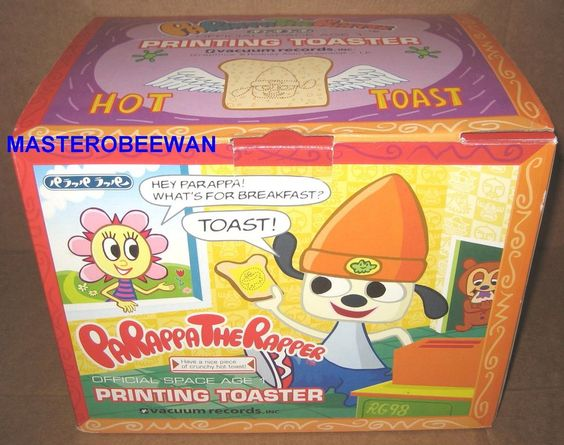 RARE ORIGINAL PS1 PARAPPA THE RAPPER PRINTING TOASTER COMPLETE NEAR MINT