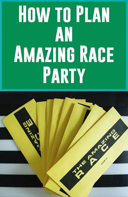 How to Plan an Amazing Race Party! (and More Free Printables) | Less Than…