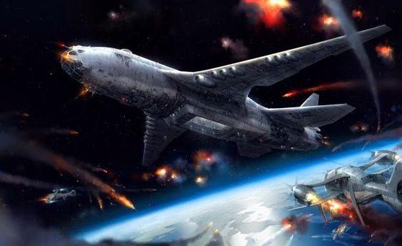 Cenários de fantasia e batalhas de ficção científica nas ilustrações de Jae Cheol Park a.k.a. Paperblue