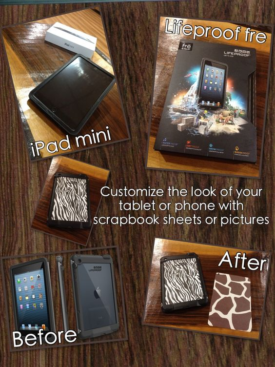 My husband very generously purchased an ipad mini for our one year anniversary. He included a lifeproof fre case. I had used this idea on my iPhone and it worked great on my ipad too. -Alicia