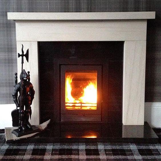 New Woodburner  #tartan #Woodburner #fire #fireplace #monochrome #homeiswheretheheartis