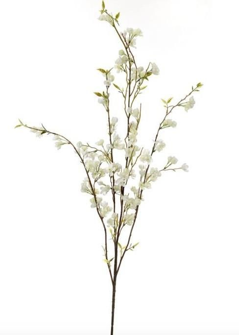 White Cherry Blossom Branch Spring Silk Flowers Afloral Com White Cherry Blossom Cherry Blossom Branch Fake Flowers