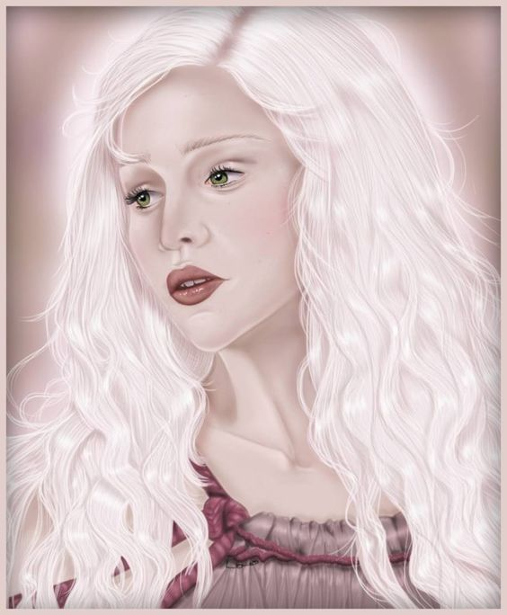 Khaleesi from Game of Thrones.  Photoshop cs4 and bamboo tablet.