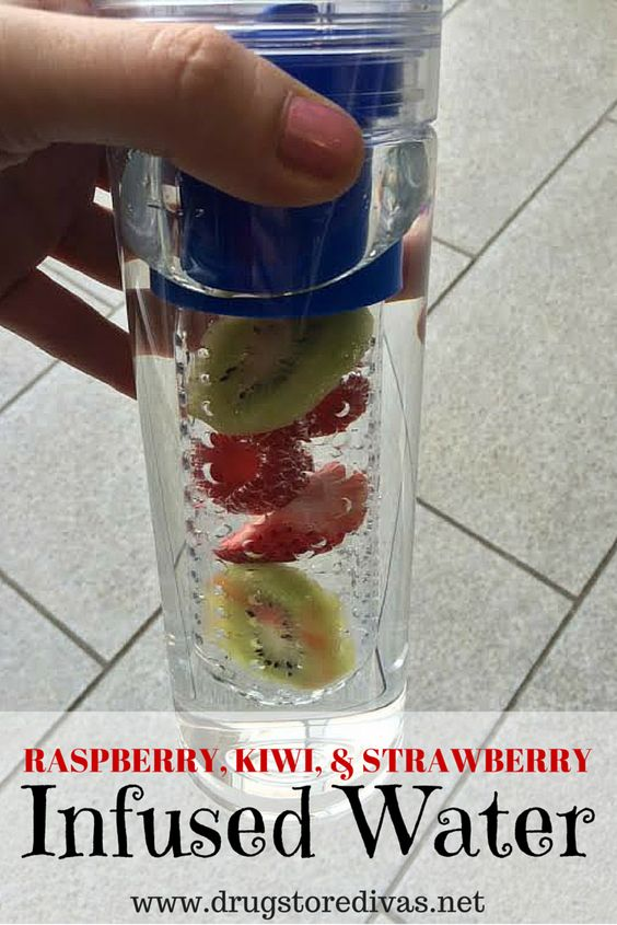 Here's a great recipe for raspberry, kiwi, and strawberry infused water!