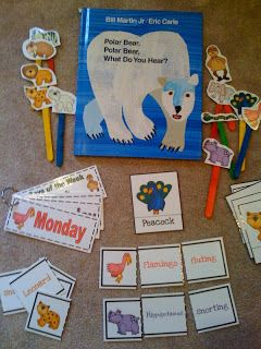 "Polar Bear ""What Do You Hear"" Fun book with made stick puppets to ..."