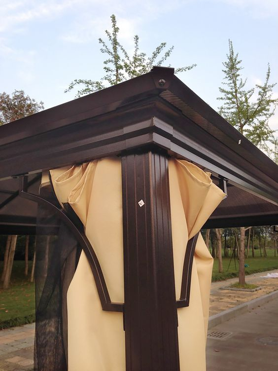Curtains Ideas cooling curtains : Shade & Cooling - Hard Top Gazebos | Aluminum gazebo, Curtains and ...