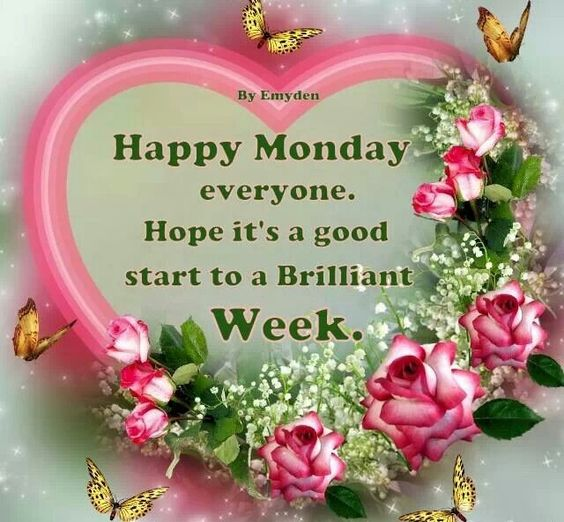 Happy Monday everyone. Hope it's a good start to a Brilliant Week. AND FILLED WITH LOTS OF LOVE AND BLESSINGS !!!!: