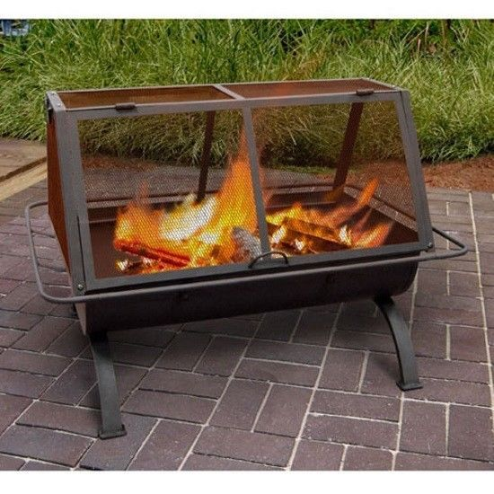 To Remove The Lid Simply Grip The Side Handles And Lift For A Touch Of Style This Fire Pit Has Contoured Legs And A De Fire Pit Heater Outdoor Fire Fire
