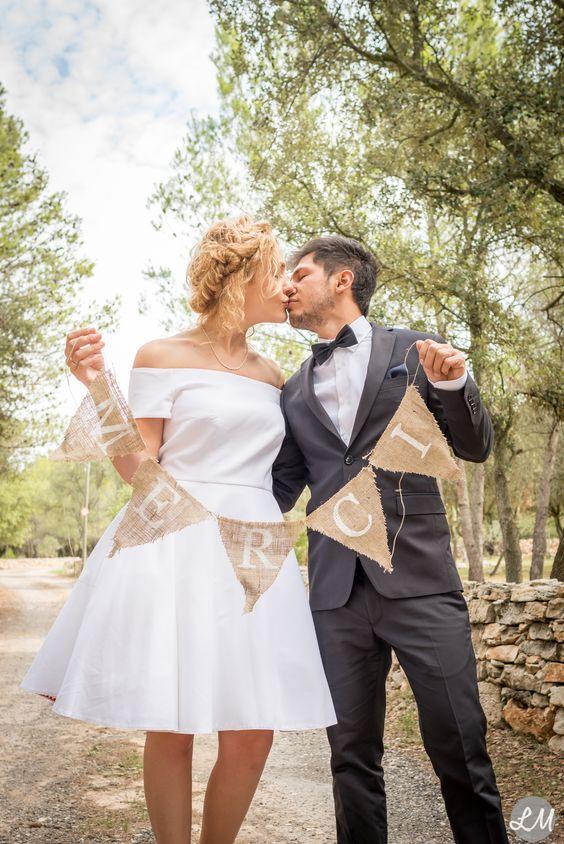 banderole merci photos couple mariage - Banderole Demande En Mariage